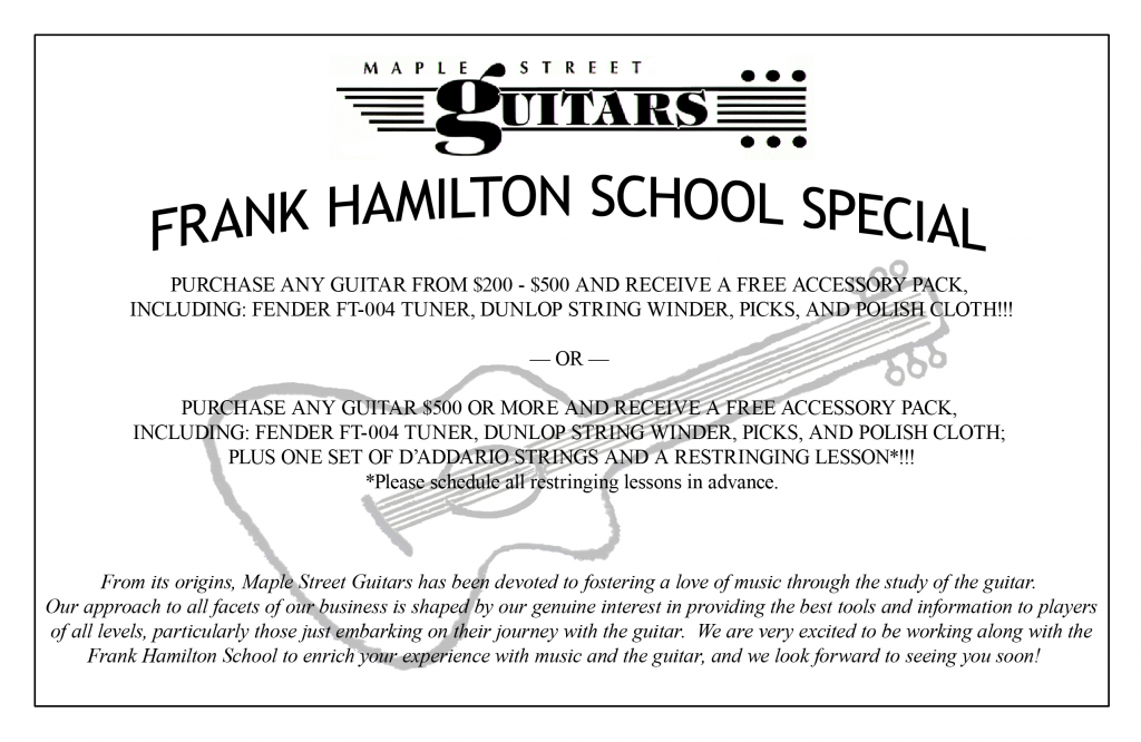 Maple Street Guitars coupon